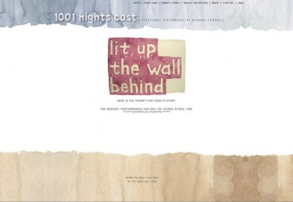 1001 Nights website and performance